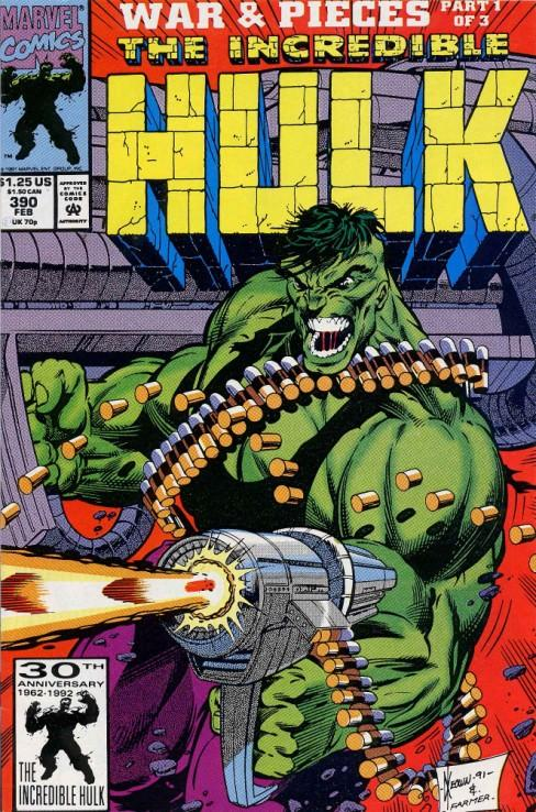 The Hulk WITH machine guns? C'mon, eitehror would be enough, this i just unfair.